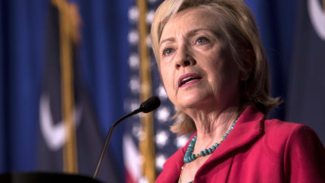 Hillary Rodham Clinton speaks Thursday in Columbia, South Carolina, about inequities in the educational,economic and criminal justice systems.