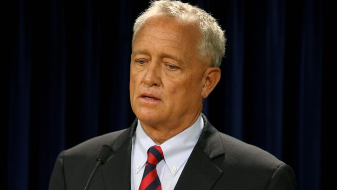 Hamilton County Prosecutor Joe Deters speaks to the media after indicting University of Cincinnati Police Officer Ray Tensing Wednesday on a murder charge for fatally shooting Samuel DuBose during a traffic stop July 19.