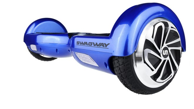 The Swagway, a hands-free self-balancing smart board, combines the fun of a skateboard with the ease of an electric scooter that can go up to 10 mph.