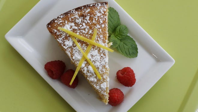 Lemon cottage cheese cake is a healthier version of traditionally higher fat treats.