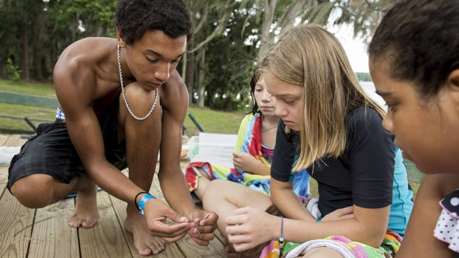 4H youth enjoying summer camp activities at Camp Cherry Lake near Madison, Florida in July 2014.