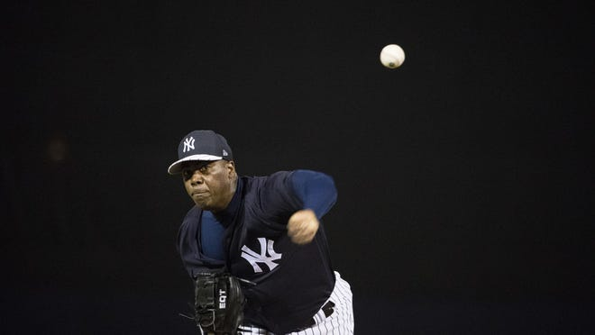Aroldis Chapman, back with the Yankees this season, threw 55.35 percent of his pitches 100 mph or more last season.