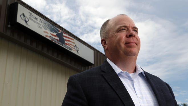 Steve Myers, owner of True North Management Services in Fenton, Mo., is a U.S. Coast Guard veteran who now heads a company that builds and manages cellphone networks and has a program to train and hire veterans.