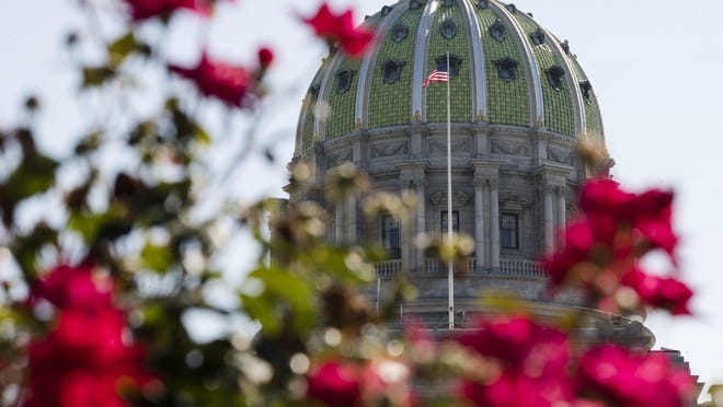 The Pennsylvania Capitol building is seen in Harrisburg, Pa., Monday, July 10, 2017. Monday marks the 10th day of a budget stalemate between Democratic Gov. Tom Wolf and leaders of the House and Senate Republican majorities.
