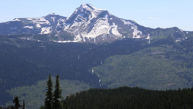 The view of Heaven's Peak from Granite Park Chalet is breathtaking.
