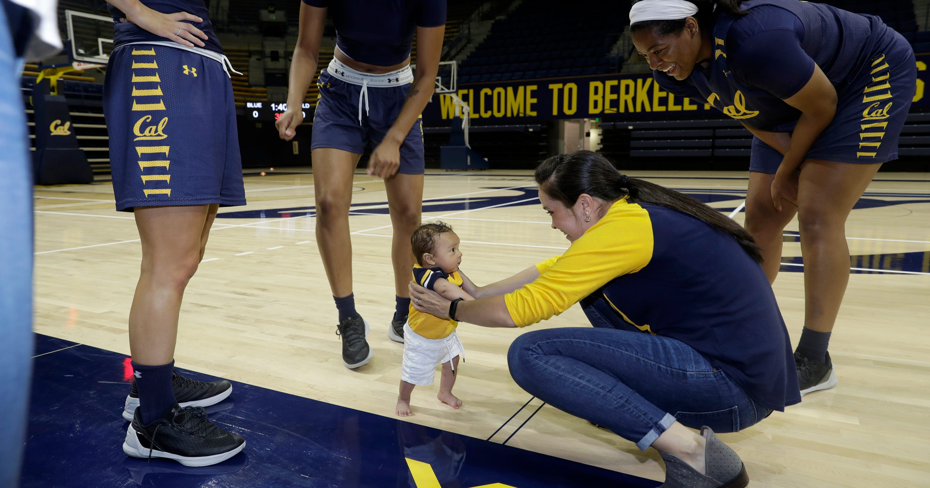 premium selection 22d47 69ed8 Baby boom  Two little boys join Cal women s basketball team