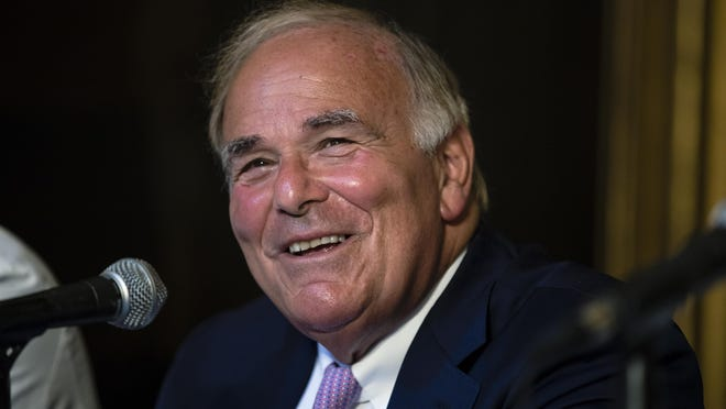 Former Pennsylvania Gov. Ed Rendell speaks at Pennsylvania Hospital in Philadelphia on Monday, June 18, 2018. Rendell said he was diagnosed three-and-a-half years ago with Parkinson's disease. (AP Photo/Matt Rourke)