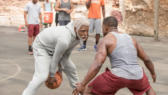 """Kyrie Irving as the title character in """"Uncle Drew."""""""