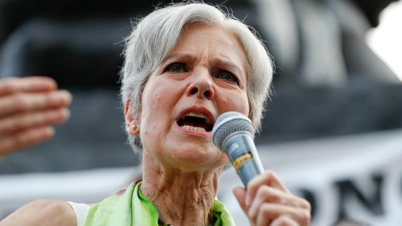 Jill Stein, presumptive Green Party presidential nominee, speaks at a rally in Philadelphia. (Photo: Alex Brandon, AP)