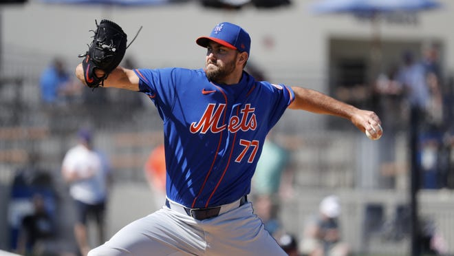 David Peterson could be the next pitching prospect ticketed for the Mets' rotation. JEFF ROBERSON/AP