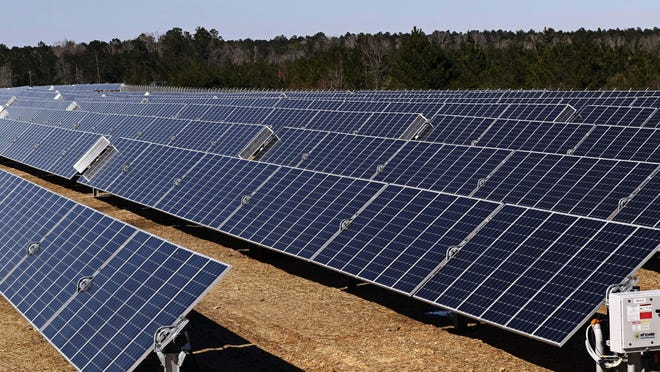 This 52-megawatt solar project near Sumrall, Miss., is a joint venture between Origis Energy and Cooperative Energy.