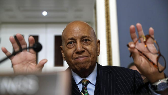 U.S Rep. Alcee Hastings speaks in December 2019 during a House Rules Committee hearing on the impeachment of President Donald Trump.