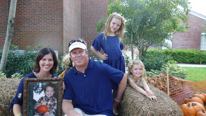 Keri and Roarke Morrison, with their daughters Julia and Josie (left to right), founded the nonprofit Live Like Jake Foundation in 2014 to raise awareness for drowning prevention, provide swim scholarships for children, and offer financial and emotional support to grieving families. The Morrisons lost their 2-year-old son Jake in a drowning accident in 2013.