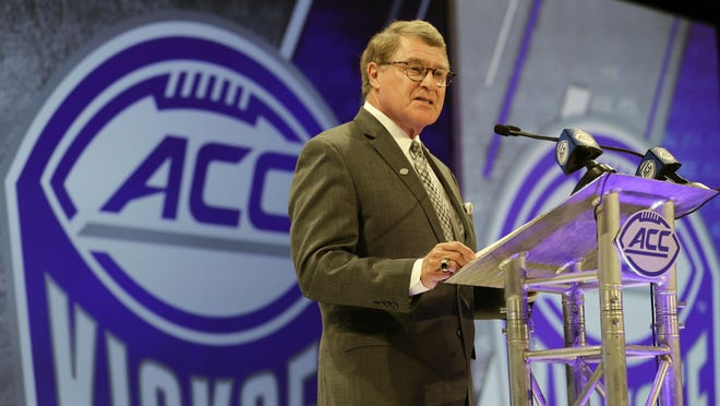 ohn Swofford, 71, has been Atlantic Coast Conference commissioner since 1997, the longest run in that position in the history of the 67-year-old conference.