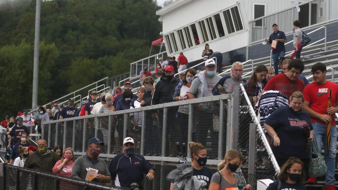 The Indian Valley fans were ordered to evacuate the stadium Friday for the second time before the season opener with Buceye Trail.