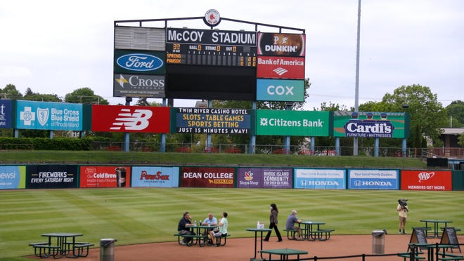 With minor-league baseball facing an uncertain future, the Pawtucket Red Sox are now offering dining on the diamond at McCoy Stadium.