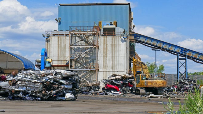 SIMS scrap metal facility at 15-17 Green Earth Avenue, in Johnston.