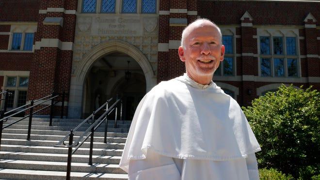 Rev. Brian J. Shanley outside Providence College.