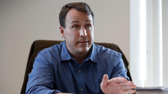 Democratic U.S. Senate candidate Cal Cunningham during an interview in January.