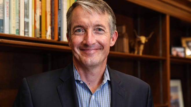 Jay Hartzell has been at UT for nearly two decades, most recently as dean of the McCombs School of Business. Hartzell, a UT graduate, is taking over as interim UT president after the departure of President Gregory L. Fenves for Emory University in Atlanta.