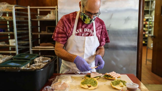 Cafe Divine chef Ray Trono has overseen the culinary operations at St. David's Episcopal Church for 20 years. When the coronavirus pandemic hit, the church closed the community cafe, but it recently reopened with curbside service.