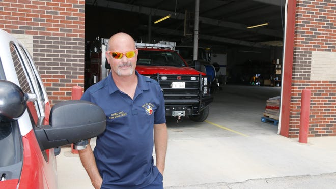 Early Fire Chief Chad Hill is pictured Monday in front of the building that houses the Early Fire Department.