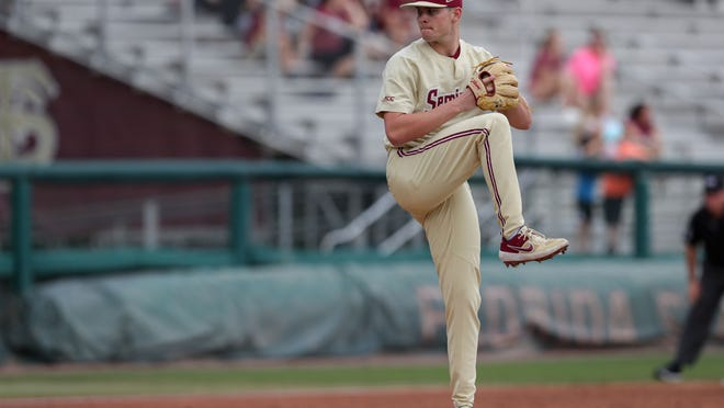 Red Sox fourth-round pick Shane Drohan delivers during a Florida State home game last season against Mercer.