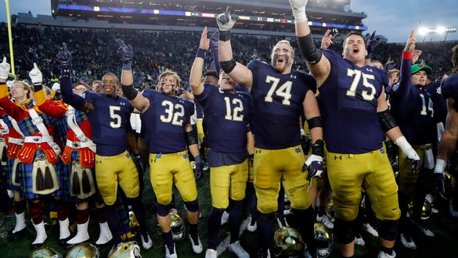 Notre Dame football will play a 10-game Atlantic Coast Conference schedule this season, if the season is played.