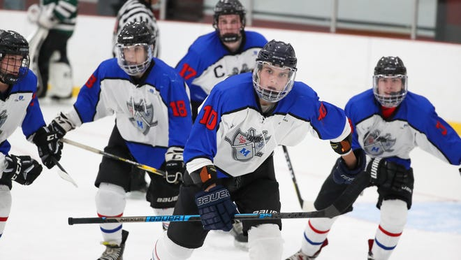 The Rogers-Middletown-Rocky Hill high school hockey team could be on the ice this fall as the sport was designated a moderate-risk activity.