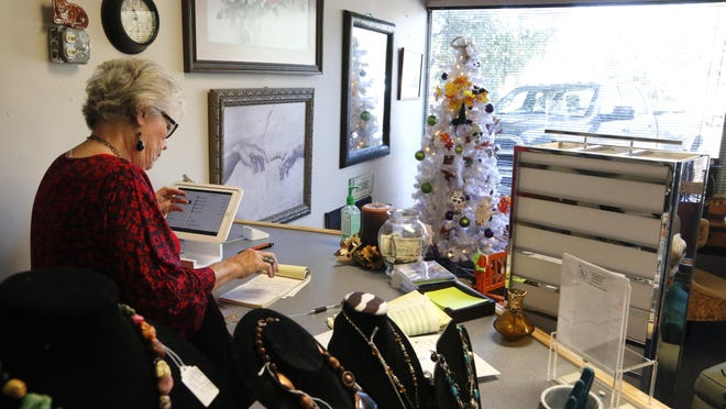 Everyone who works with the Rescue Resale thrift store, including store manager Donna Thomas, pictured, works on a volunteer basis.