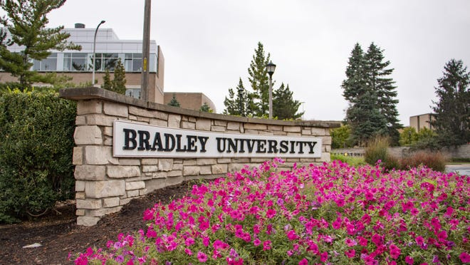 The entrance to Bradley University is seen in this file photo.