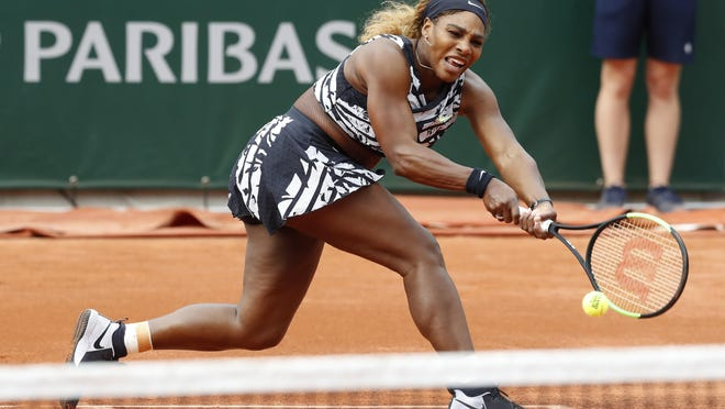 Serena Williams, shown on May 17, 2019 during the French Open in Paris, has entered a hard-court tournament, the inaugural Top Seed Open, starting Monday near Lexington, Kentucky.