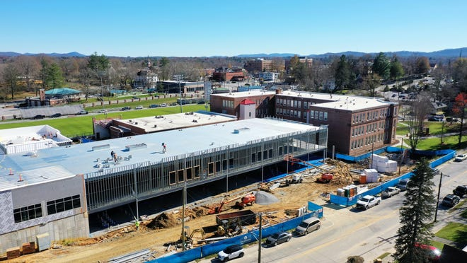 Construction work is progressing quickly at the new Hendersonville High. For a gallery of photos, visit www.BlueRidgeNow.com.