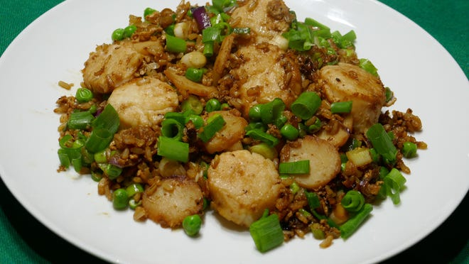 Scallop Fried Rice makes a quick and flavorful meal.