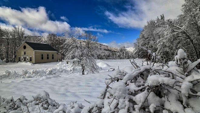 Winter scene in Barnard.