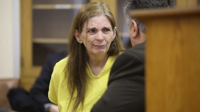 Donna Kay Scrivo, waits for her arraignment at 40th District Court in St. Clair Shores on Monday, Feb. 3, 2014. Scrivo was charged for the dismemberment of her son Ramsay Scrivo.