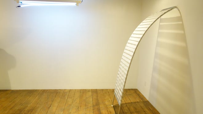 """View of art instllation that is part of Zephyr Gallery's """"Stranger Than Function."""""""