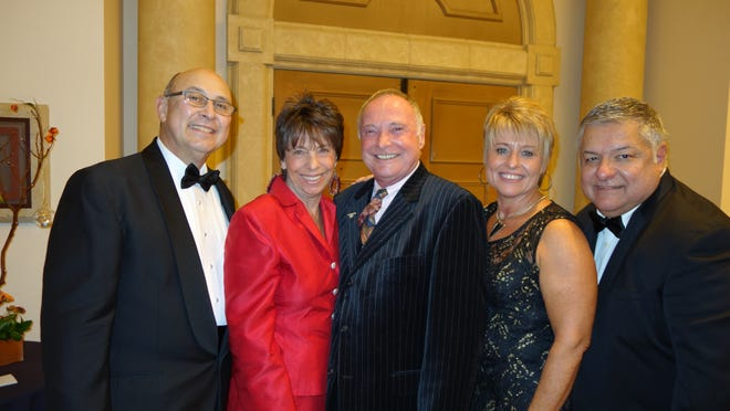 From left, Board President Paul Padilla, Honoree Kathy DeRosa, Honoree Charles Townsend, Event Chair Nena McCullough, Executive Director James Martinez.