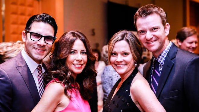 From left: Gabriel and Marisa Rivera, Jennifer and Mike Walton
