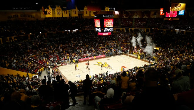 Wells Fargo Arena is drawing big crowds for the 2017-18 season of ASU men's basketball.