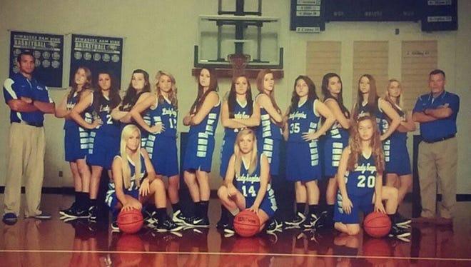 Hiwassee Dam girls basketball team.