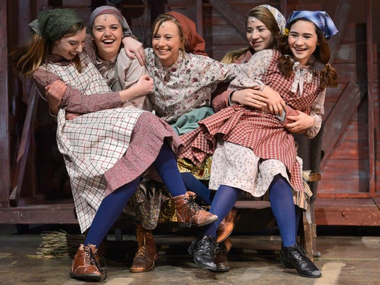 """Tevye's daughters finish the song """"Matchmaker"""" during"""