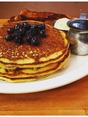 A stack of pancakes from The Committed Pig in Manasquan.