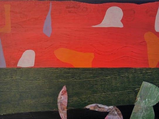 "Nick Stolle, ""Untitled,"" 2017, acrylic on wood panel,"
