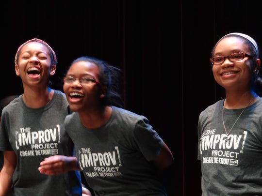 Students from The Improv Project (The Detroit Creativity Project's flagship program).