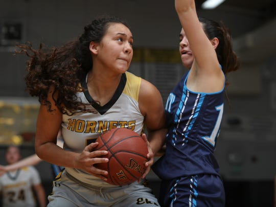 Enterprise's Jadyn Matthews looks toward the rim during