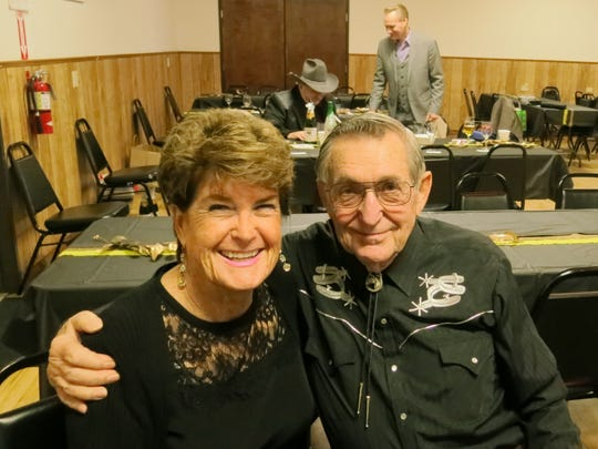 Sandy Halladay and Ed Seigmund, both of Redding, attend the New Year's Eve Celebration Dance on Dec. 31 at the Frontier Senior Center in Anderson.
