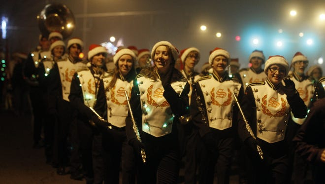 See the Sprague marching band perform during the annual Festival of Lights Holiday Parade in Keizer.