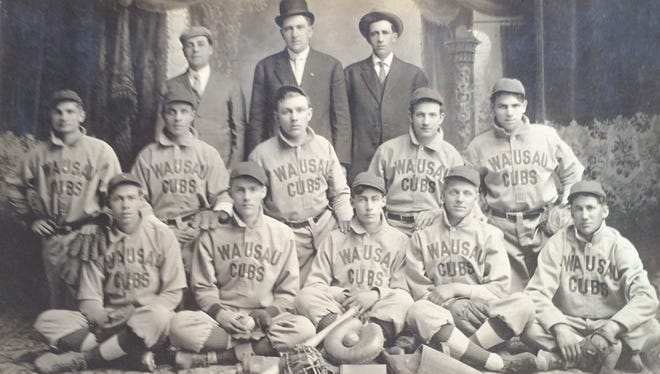 A team photo of the Wausau Cubs from the early 1900s that won the Wausau City championship.