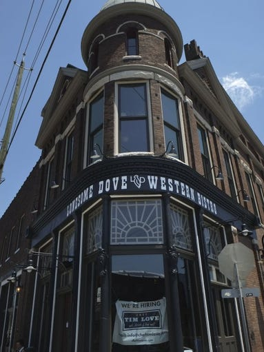 The new Lonesome Dove Western Bistro is pictured on Monday, June 20, 2016, in the Old City. Chef Tim Love's restaurant opens Friday at the former Patrick Sullivan Saloon.